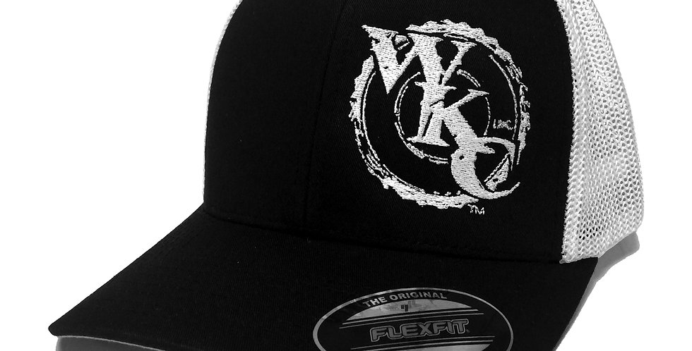 WKCInc White Mesh Back Fitted Cap
