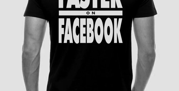 Faster on Facebook Tee