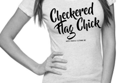 Checkered Flag Chick Womens Tee