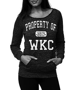 Property of WKC Womens Swoop Neck Sweatshirt