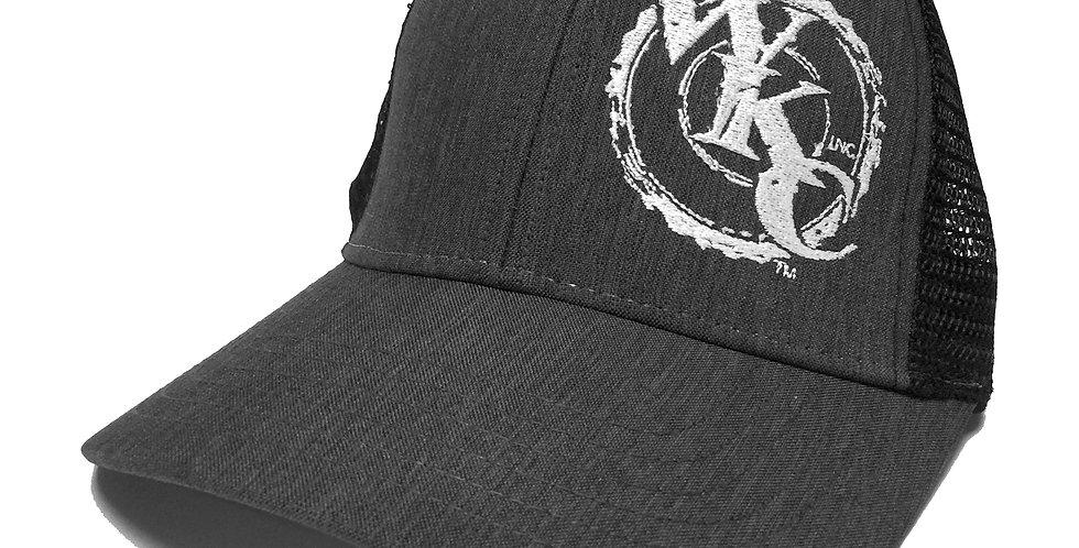 WKCInc Grey Bill Black Mesh Snapback Cap
