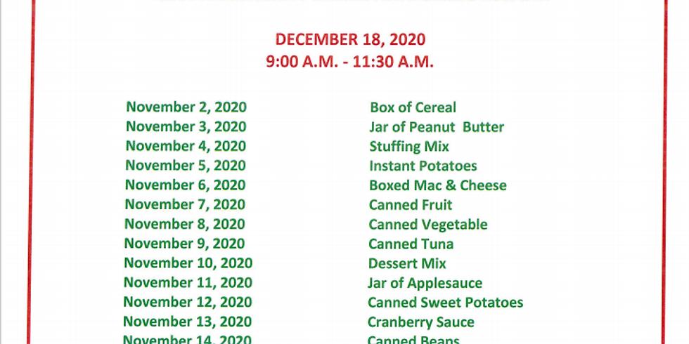 Alpha Community Center Christmas Food drive