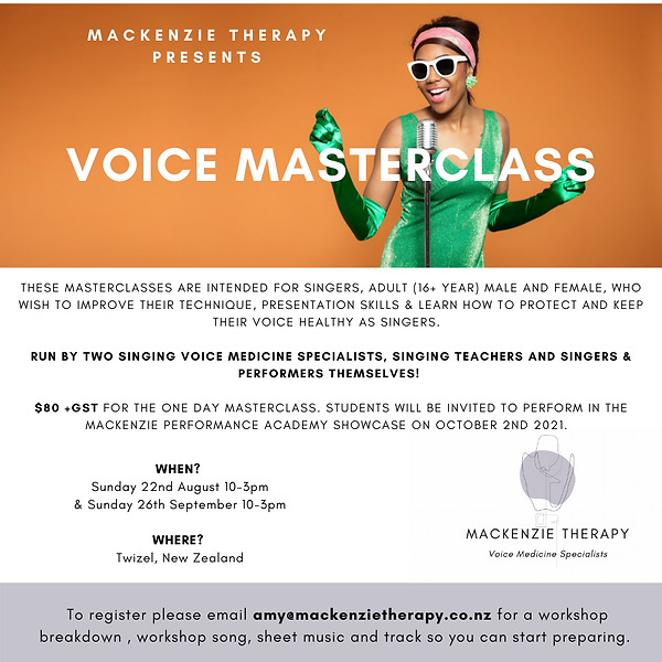Copy of This Masterclass is intended for singers, male and female, who wish to improve the