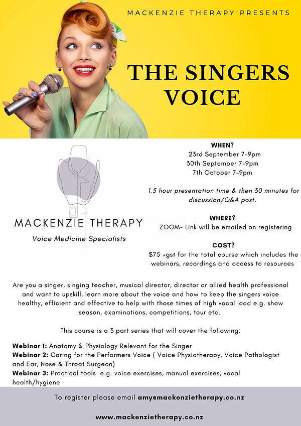 This Masterclass is intended for singers, male and female, who wish to improve their techn