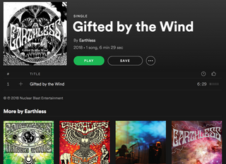 """Stream """"Gifted by the Wind"""" on Spotify"""