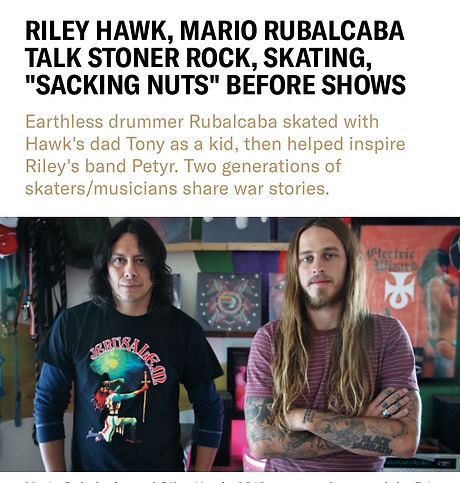 Mario interview with Riley Hawk REVOLVER