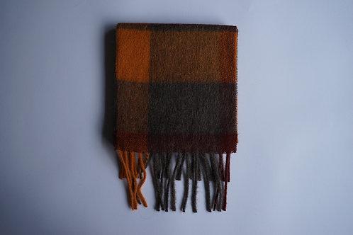 Checkered alpaca scarf