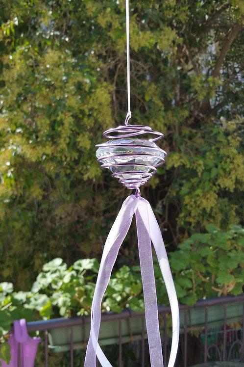 Lavender Diamond Meditation Mobile