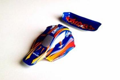 Carrosserie Bleu et Flamme Voiture MAXI SPEED