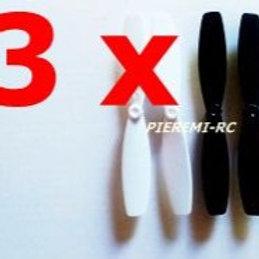 Lot de 3 x 4 hélices noires et blanches mini drone jxd388