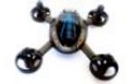 Carcassse noire et bleue Mini Drone 6 axes