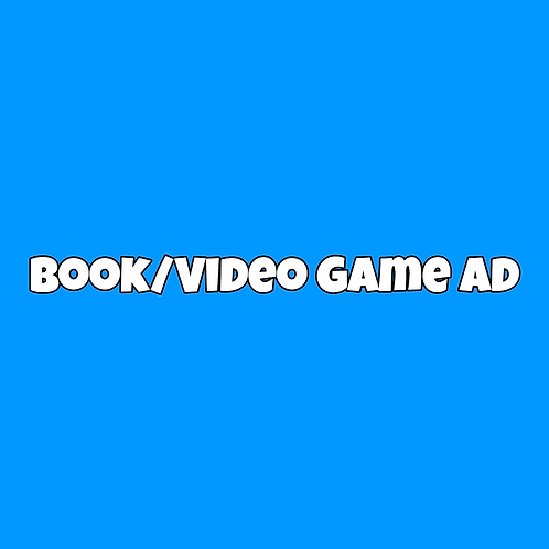Book/Video Game Ad - 1 Day