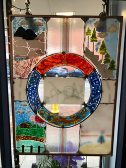 Life Cycle 02 (fused glass)