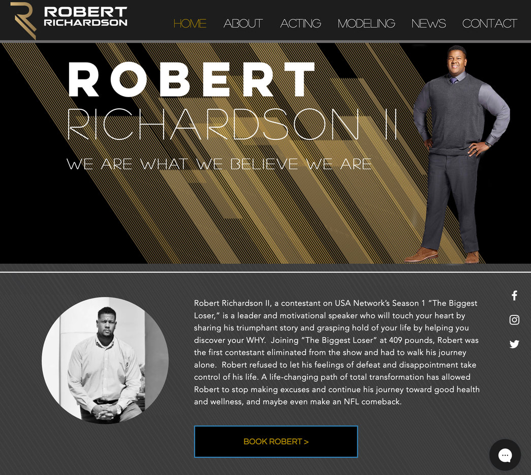 Model & Actor Website Design