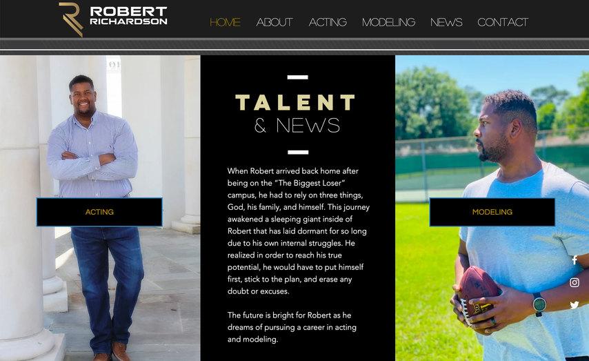 Model & Actor Website Design