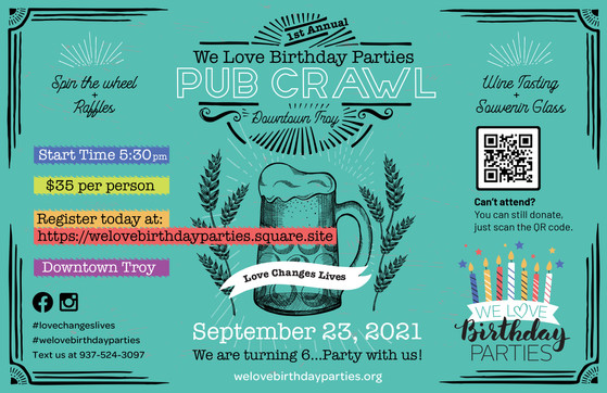 Pub Crawl Event Graphics, Troy Ohio