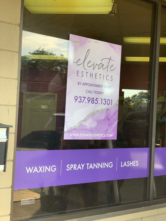 Elevate Esthetics Window Signage