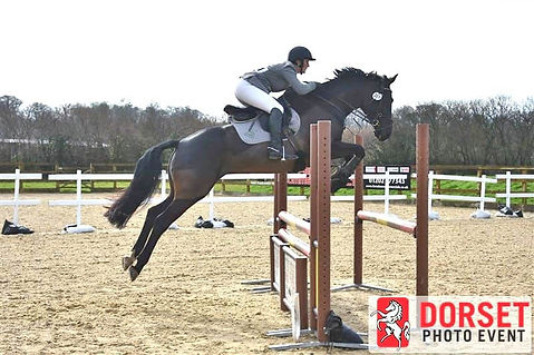 Alison & Lizzie jumping at Moreton