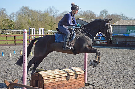 Alison & Lizzie jumping the rolltop