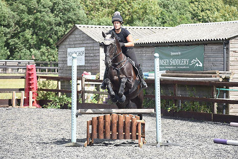 Alison & Lizzie jumping