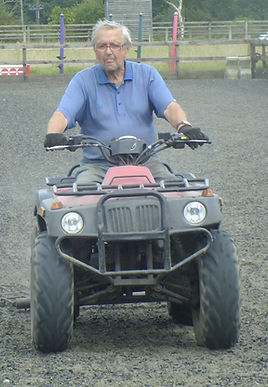 Maurice on his quad - Image by Alison Jenden