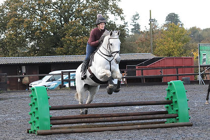 Denver & Alison haveing fun arena eventing thanks to @tlovellphotography