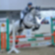 Alison & Denver jumping at Crofton. thanks to Simply Event Photos