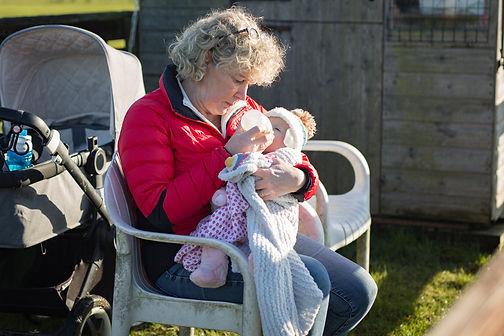 Kate's mum looking after baby Isabelle
