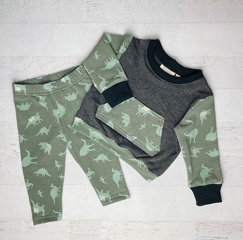 Dinomania Crew Sweatshirt & Legging