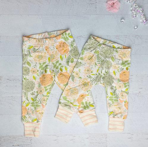 Soft Peony Jersey Cotton Legging