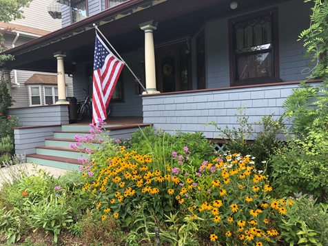 Ditmas Park front garden after