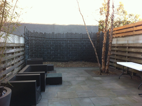 Boerum Hill backyard before