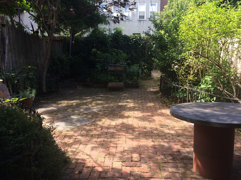 Carroll Gardens backyard after weeding