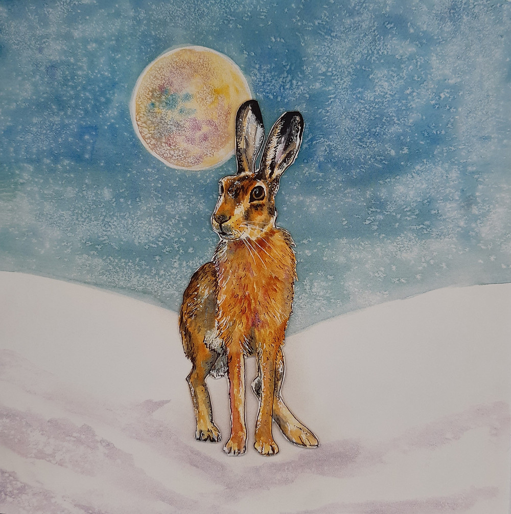 Sitting Hare from the 'Winter Sparkle' range.
