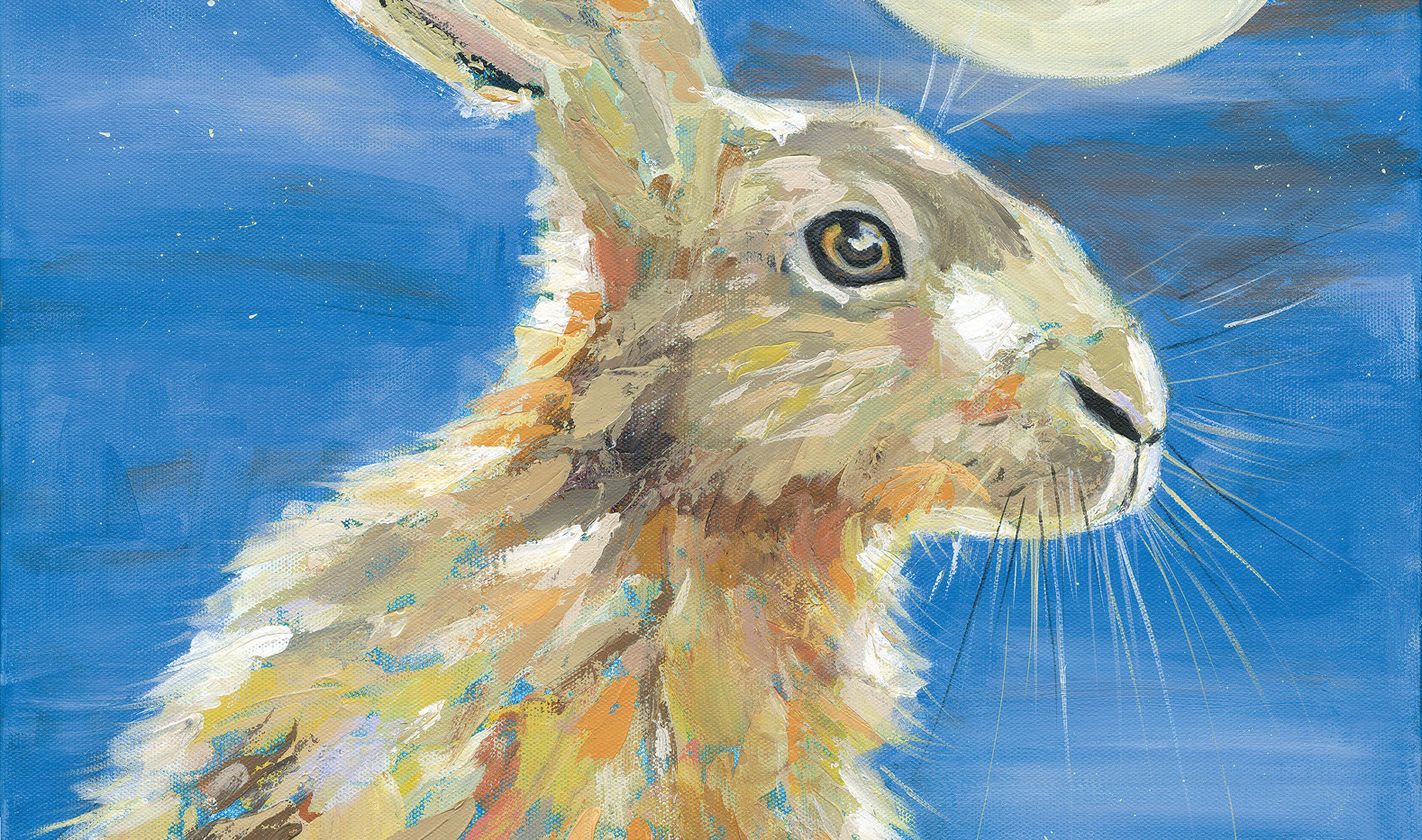 Hare with full moon No. 2