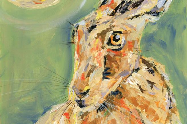 Hare Full Moon Pastel   No.4