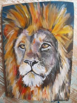 Lion greetings card