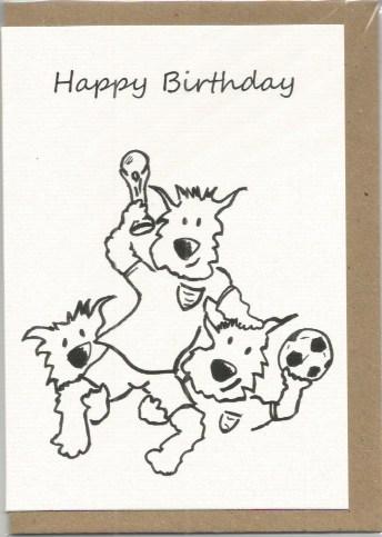 S22 Happy Birthday Football