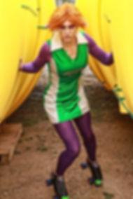Cyrene as Cy Borg: Quad Quad, Mad Rollin' Dolls