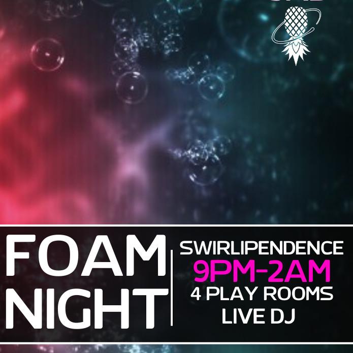 Swirlipendence Day Foam Party