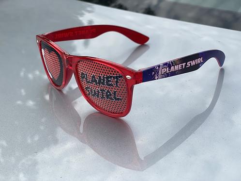 Planet Swirl Sunglasses Red