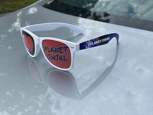 Planet Swirl Sunglasses Blanco