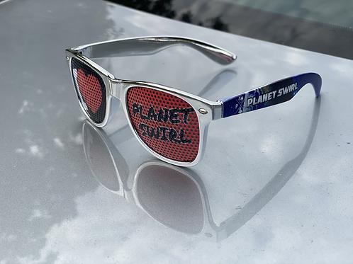 Planet Swirl Sunglasses Silver