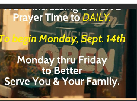 Nation Wide Prayer Network Expands to DAILY LIVE Prayers