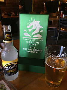 Dragon Boat Trophy 2018 with drinks.JPG