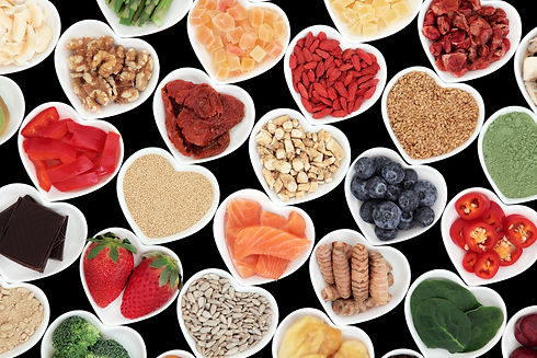 Super food vegetable and fruit selection