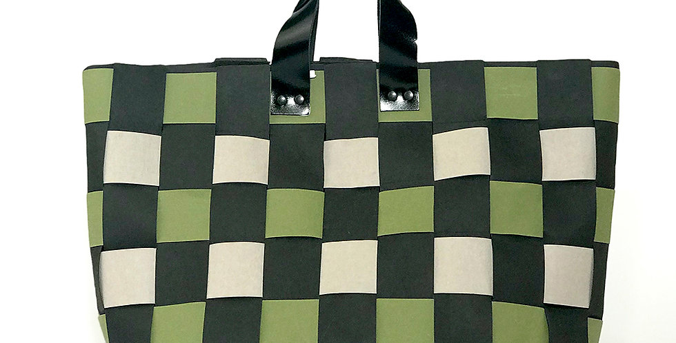 сумка Origami | черно-зеленая