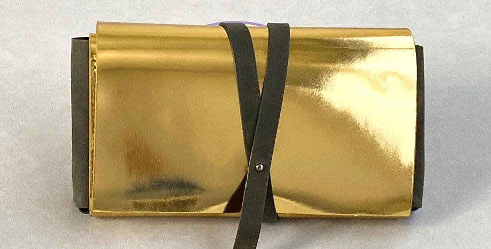 Сумка Crossbody в коплекте с двумя ремнями | золото-хакки