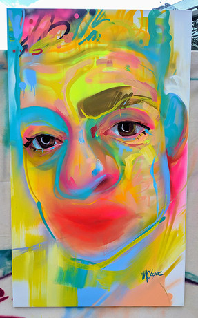 Outdoor Art fair Toronto- Portrait Paint