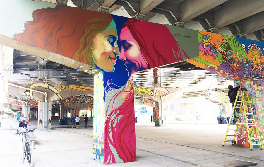 """Underpass park pillar-""""Same Love"""""""